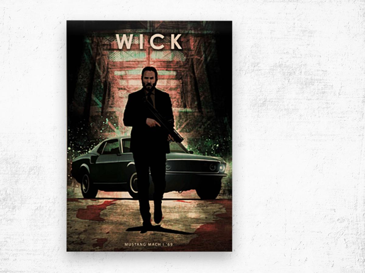 John Wick Wood print