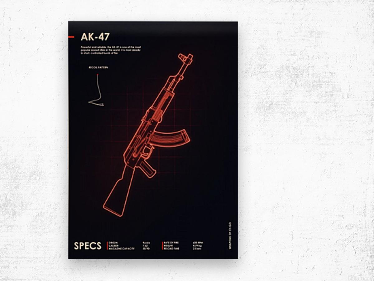 AK-47 CSGO WEAPON Wood print