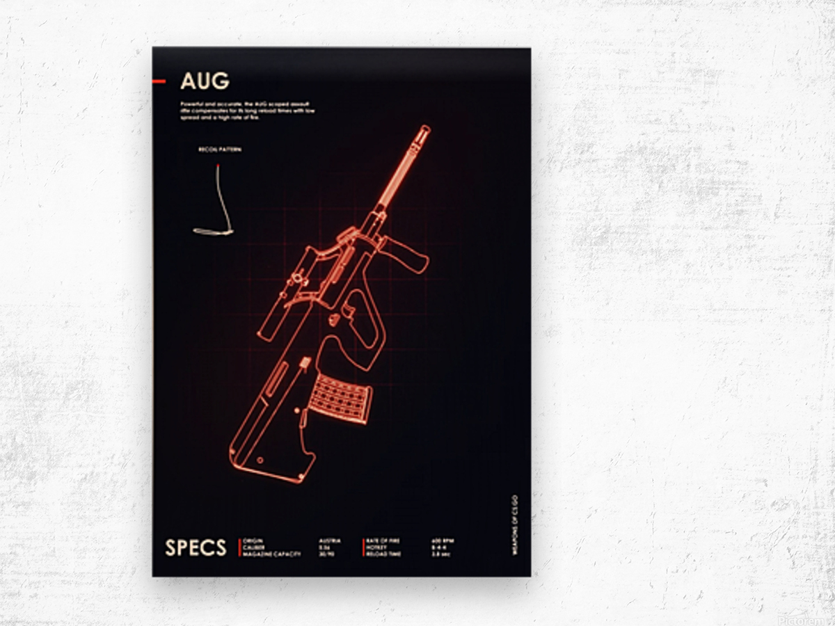 AUG CSGO WEAPON Wood print