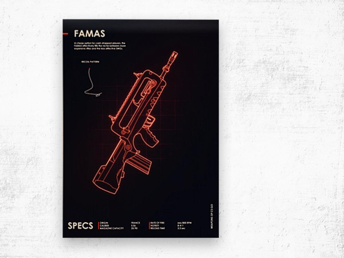 FAMAS CSGO WEAPON Wood print