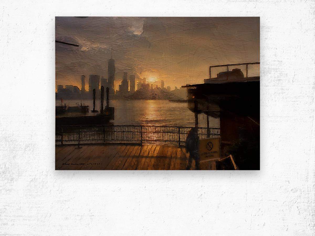 NYSunset Wood print