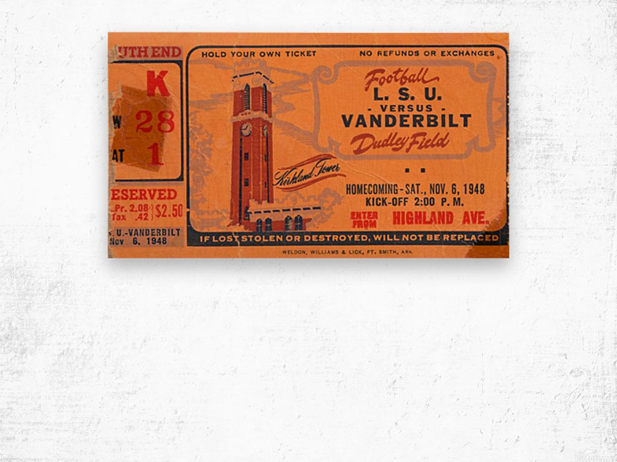 1948 LSU vs. Vanderbilt Wood print