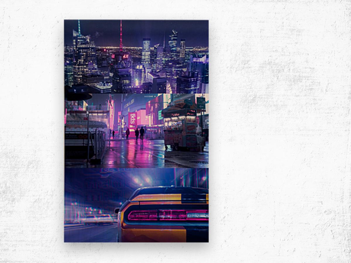 Oblivion City Wood print