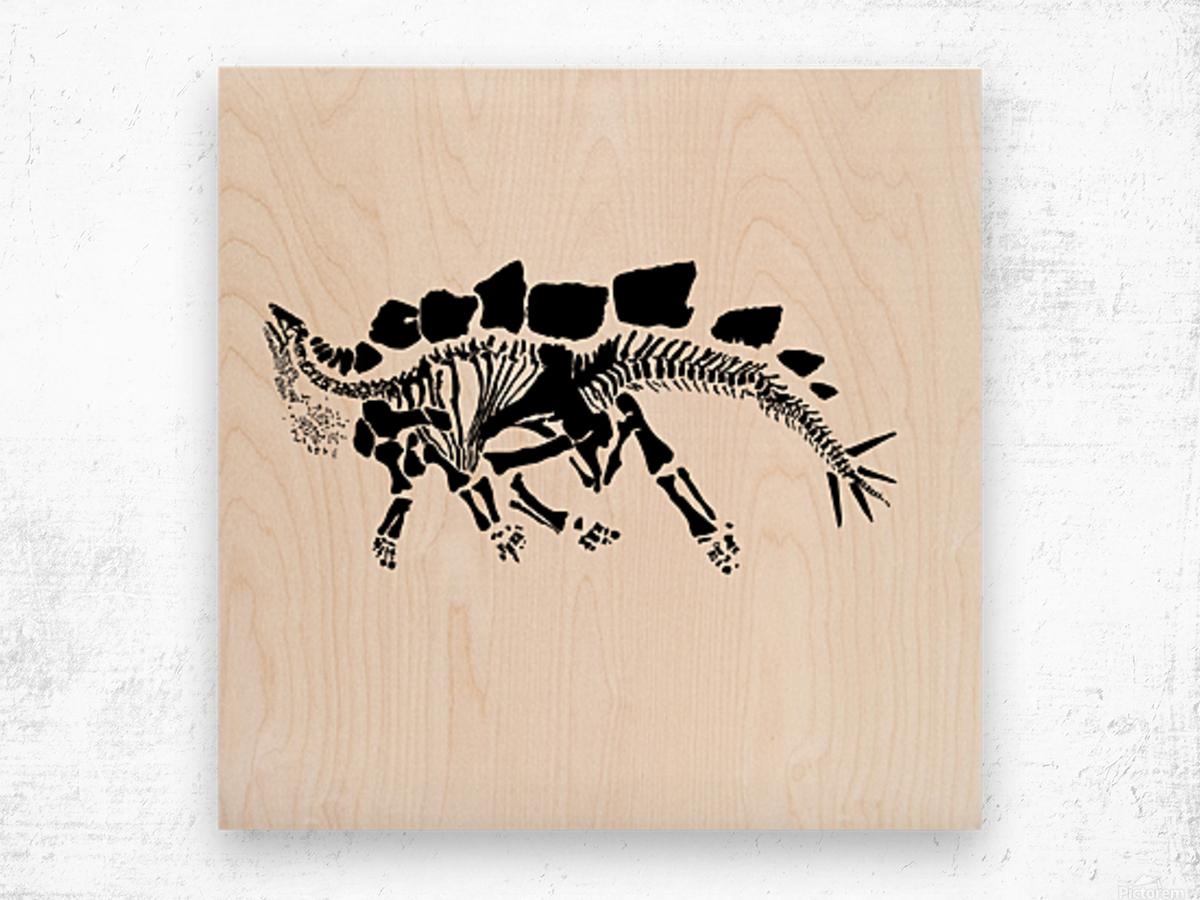 Fossil Stegasaurus Wood print