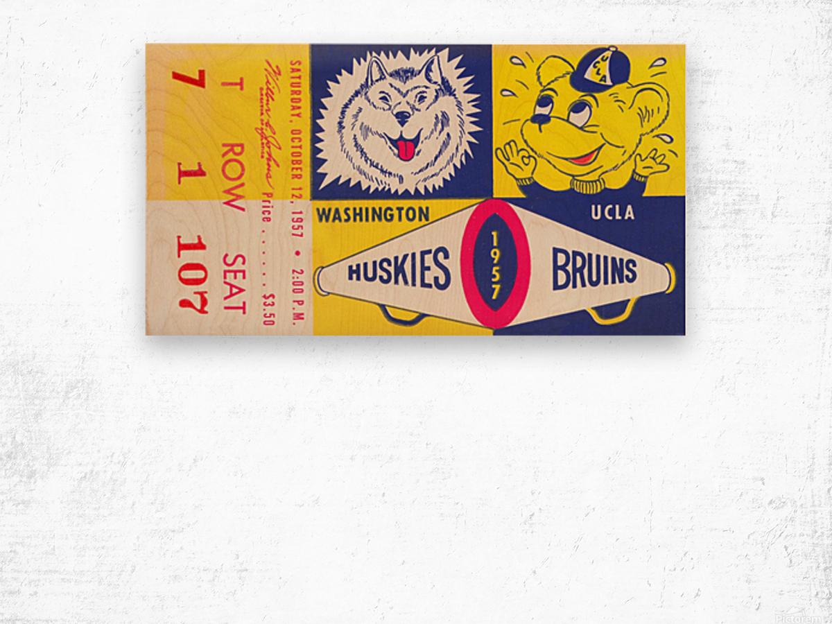 1957 UCLA vs. Washington Wood print