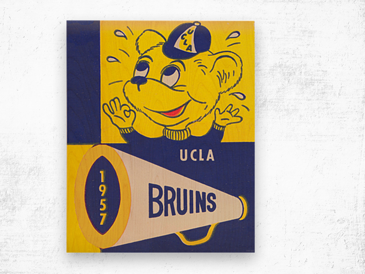 1957 UCLA Bruins Wood print