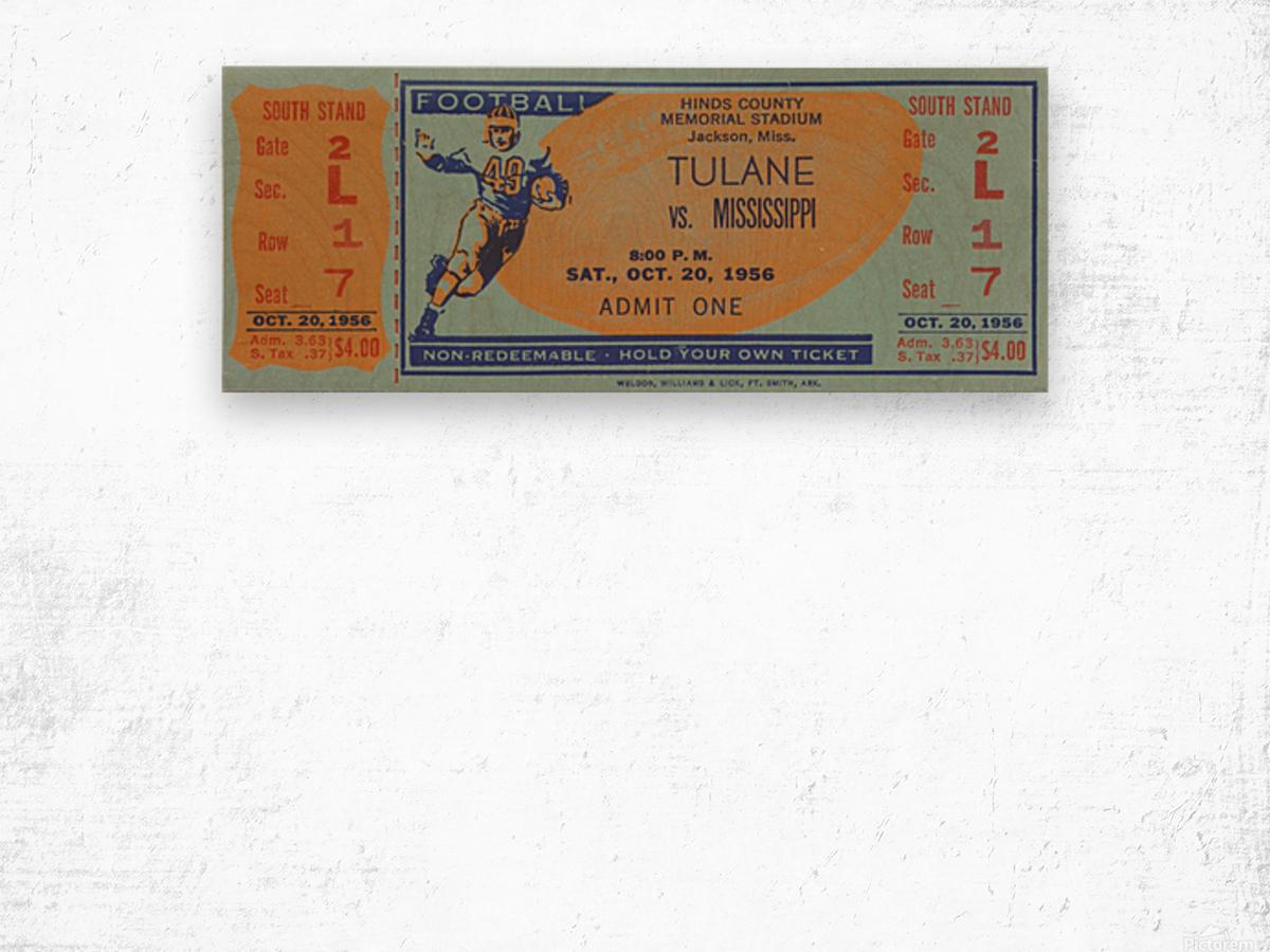 1956 Tulane vs. Ole Miss Wood print