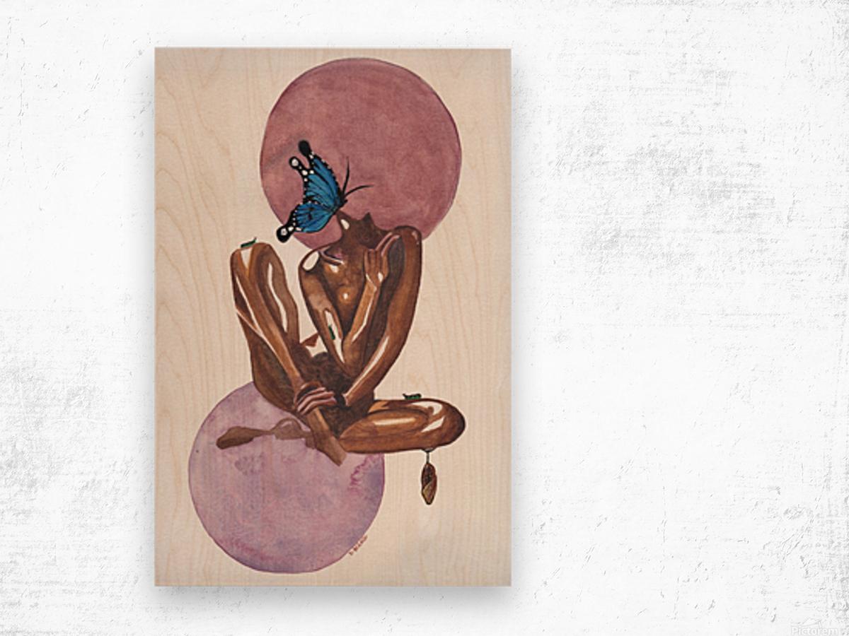 Moonlight Blossom Wood print