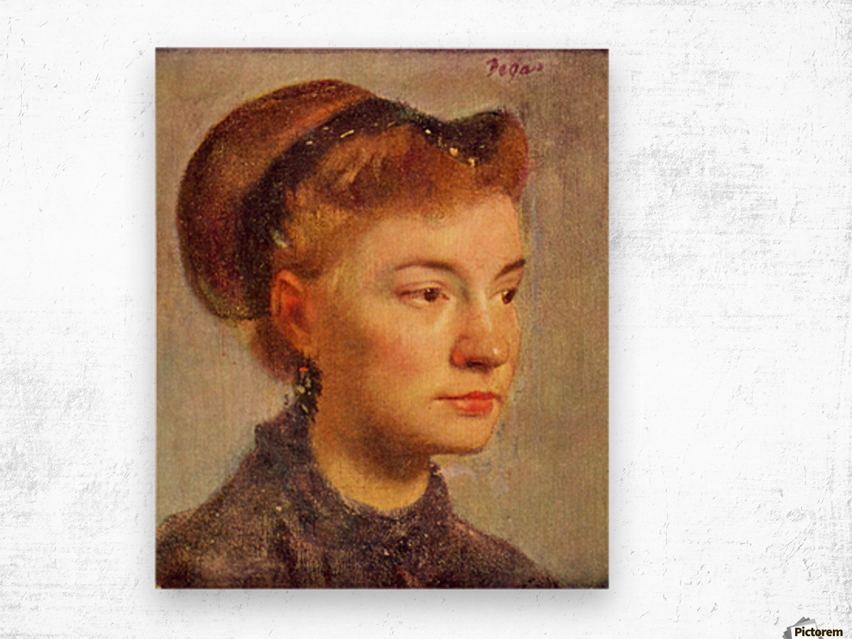 Portrait of a young Lady by Degas Wood print