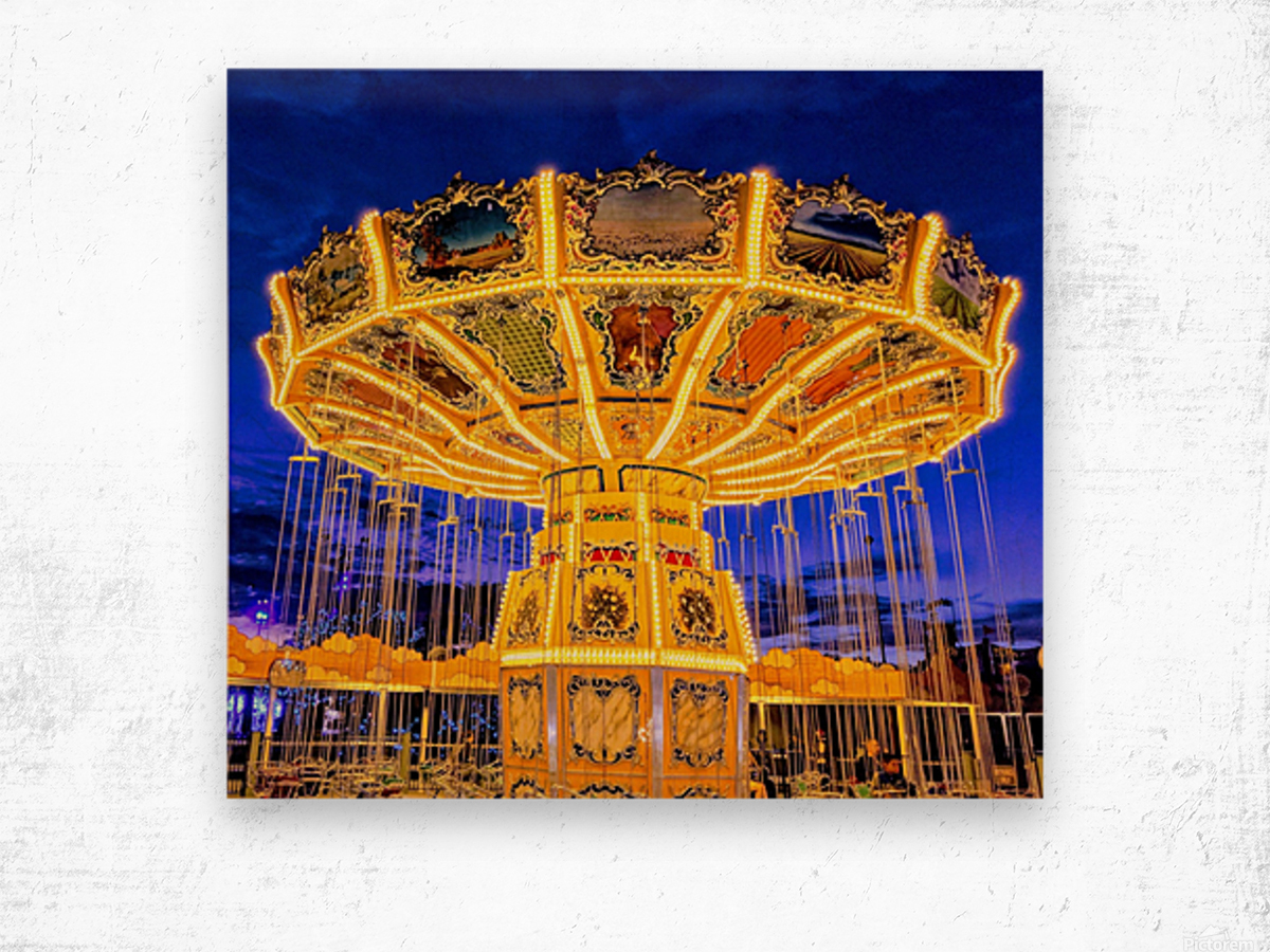 Carnival I Wood print