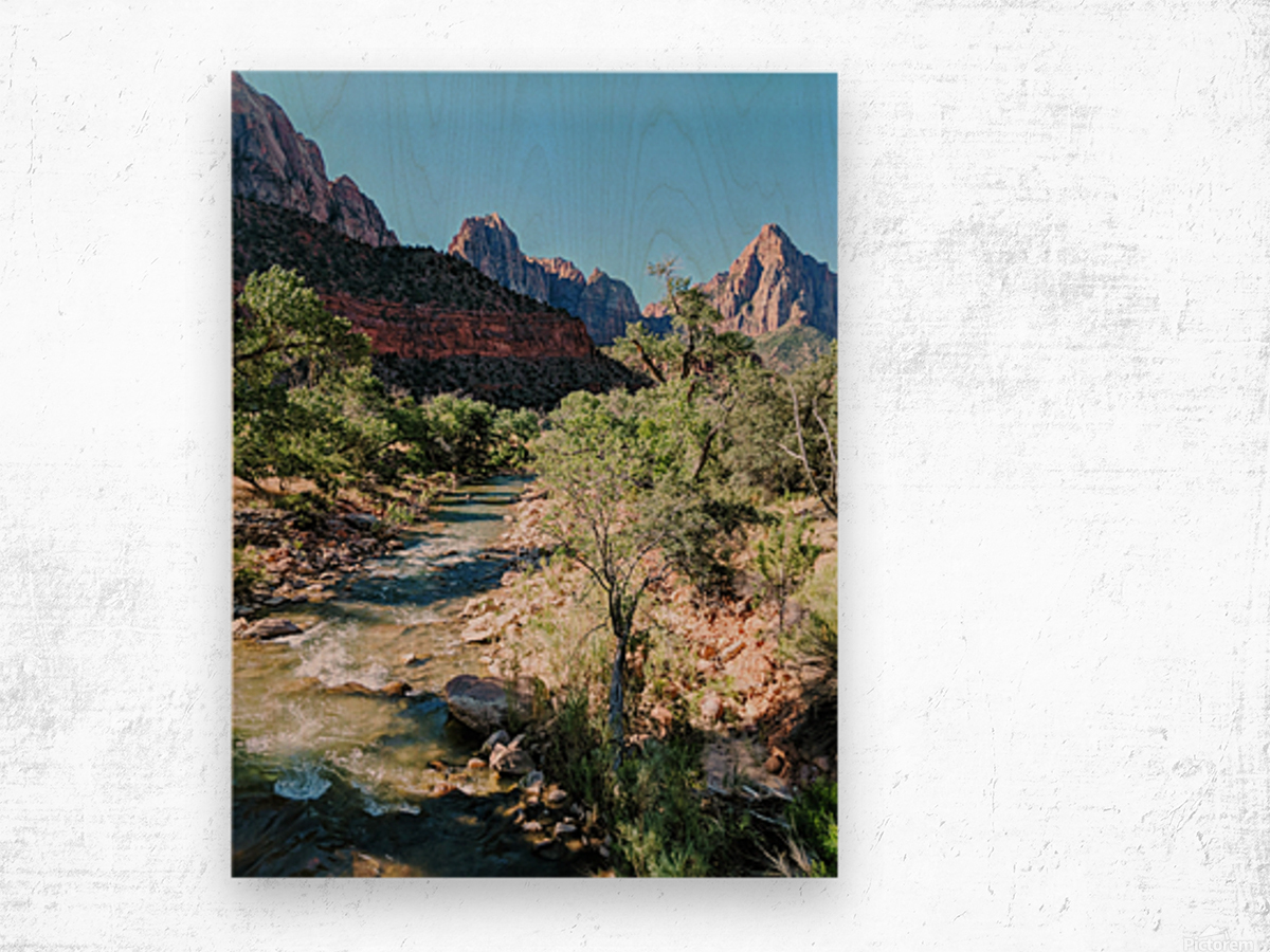 Zion in Morning Light Wood print