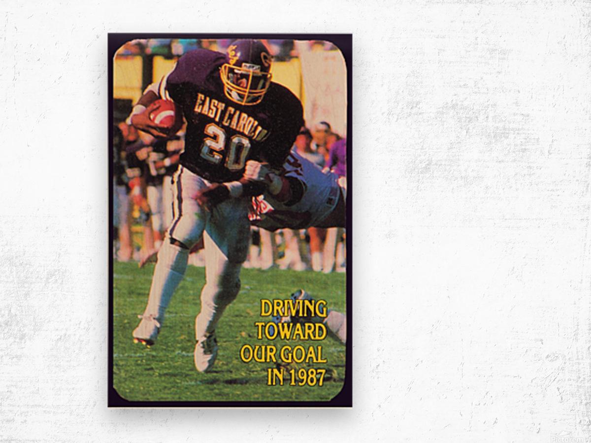 1987 East Carolina Football Wood print