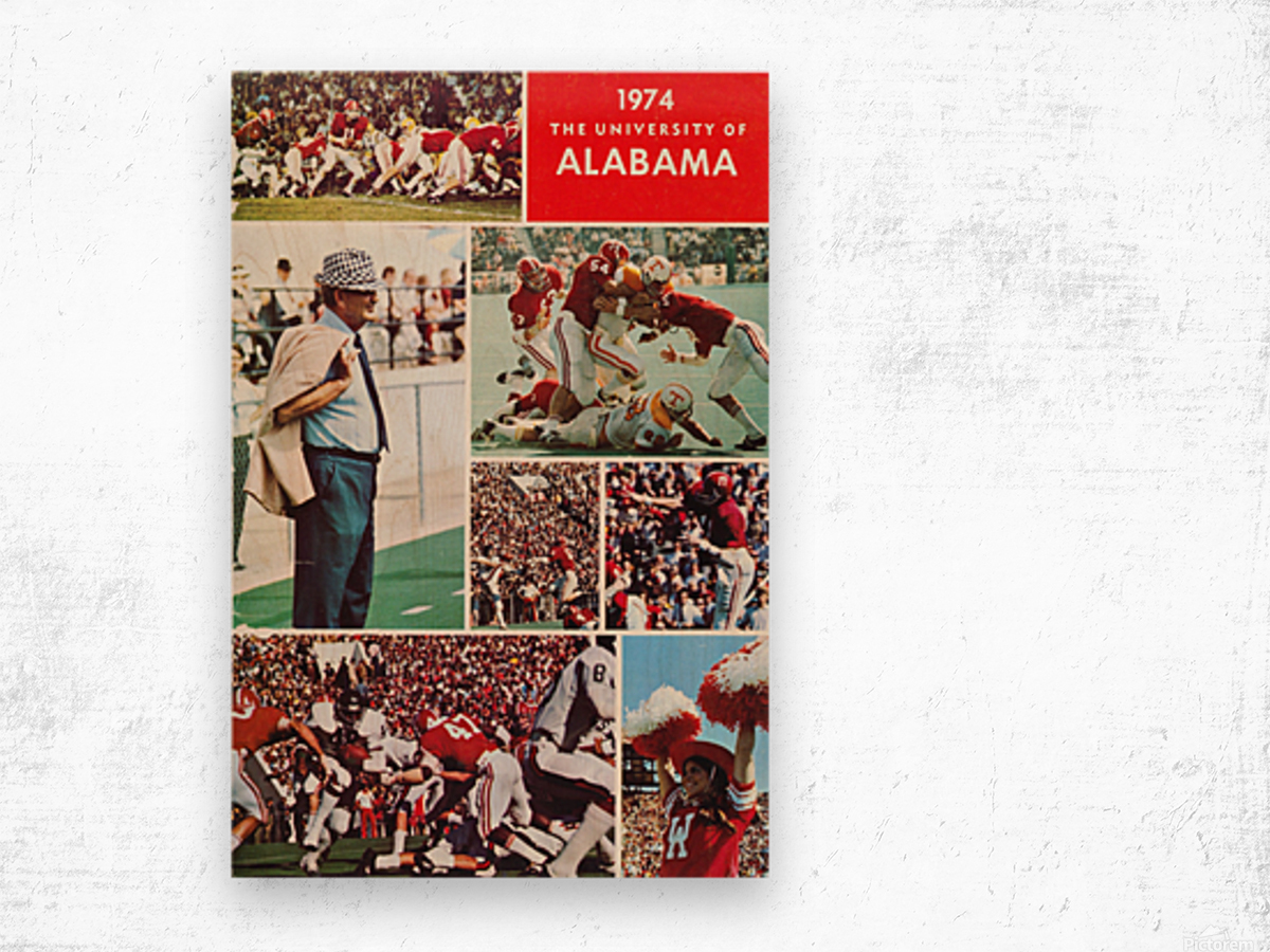 1974 Alabama Football Print Wood print