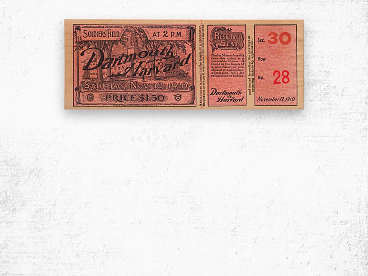1910 Dartmouth vs. Harvard  Wood print