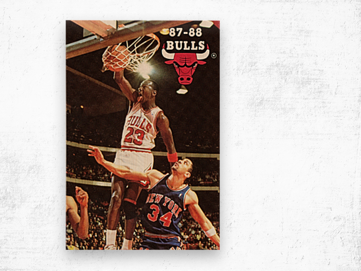 1987 Chicago Bulls Michael Jordan Art Wood print