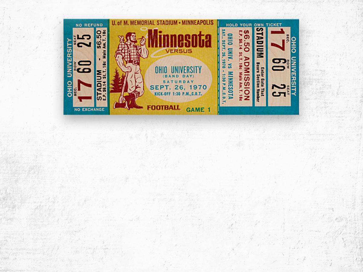 1970 Minnesota vs. Ohio Wood print
