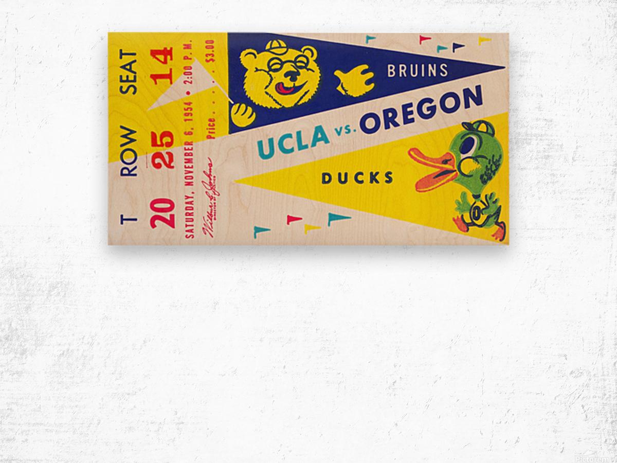 1954 UCLA vs. Oregon Wood print
