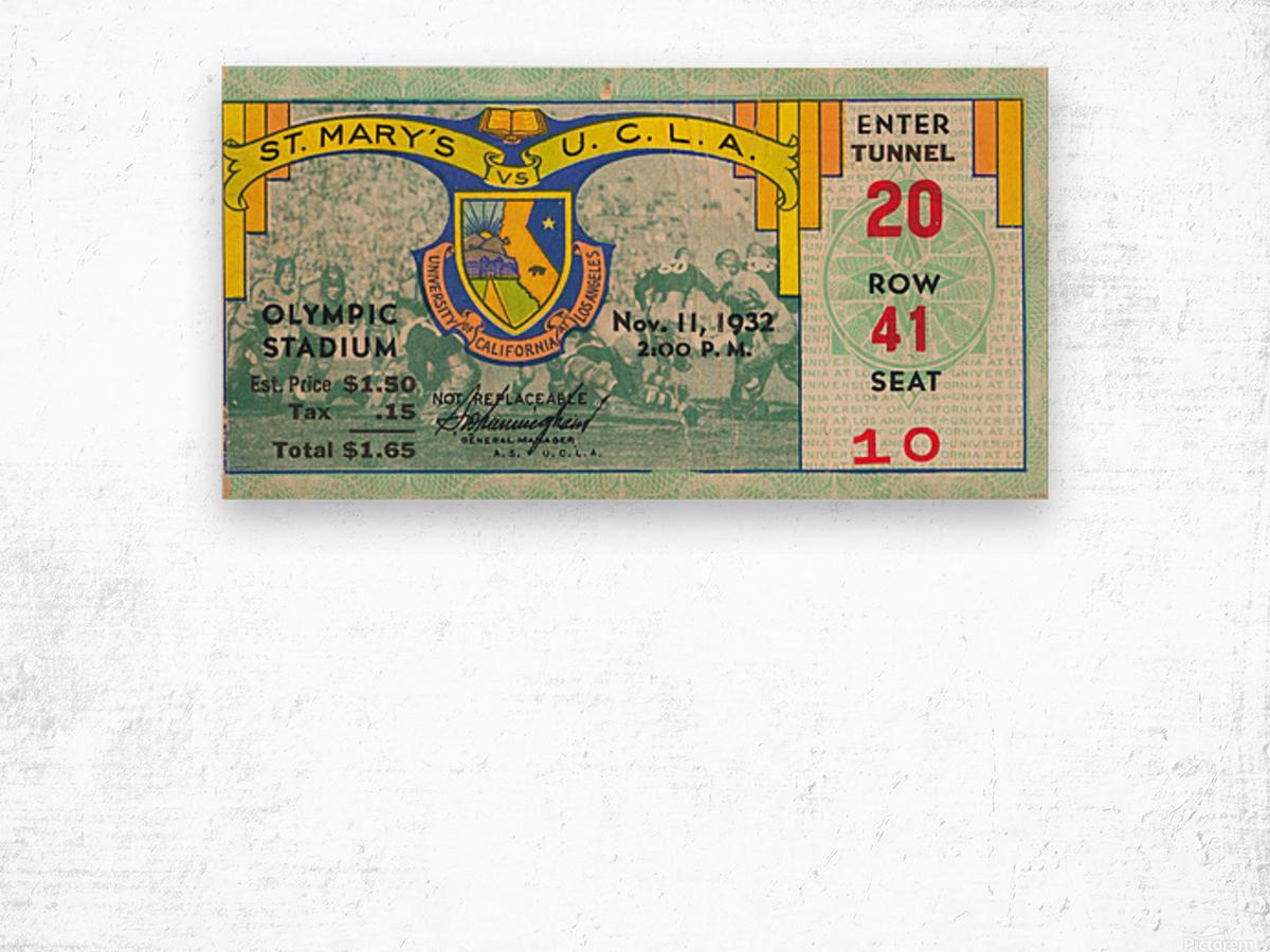 1932 St. Marys vs. UCLA Wood print