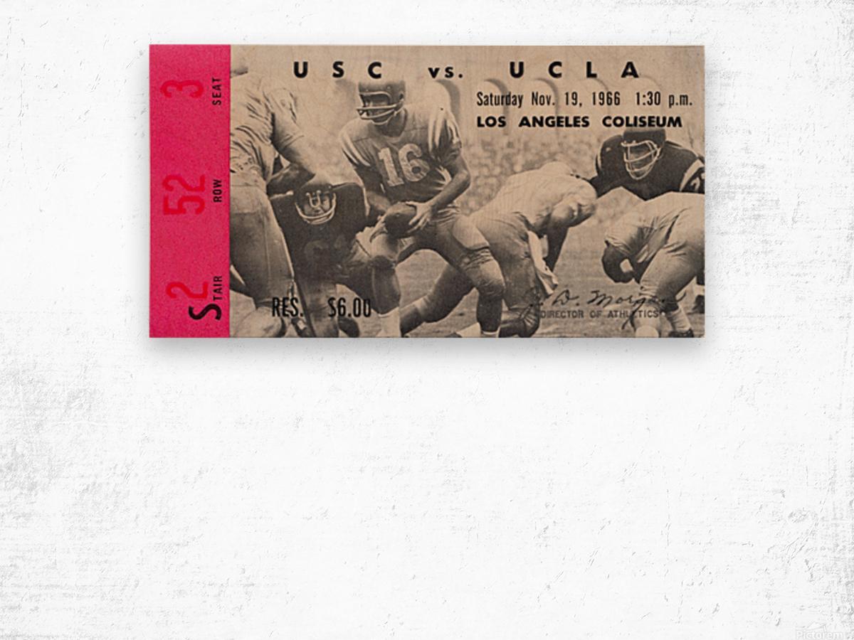 1966 UCLA vs. USC Wood print