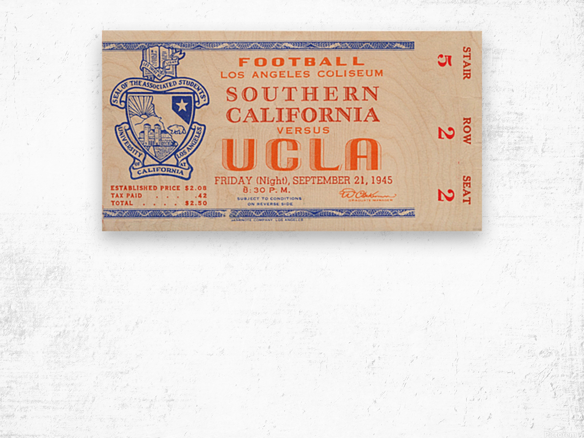 1945 USC vs. UCLA  Wood print