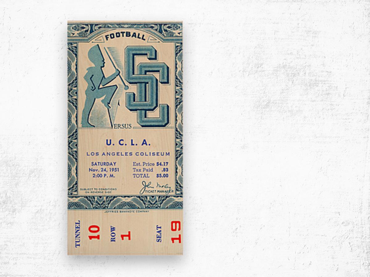 1951 USC vs. UCLA Wood print
