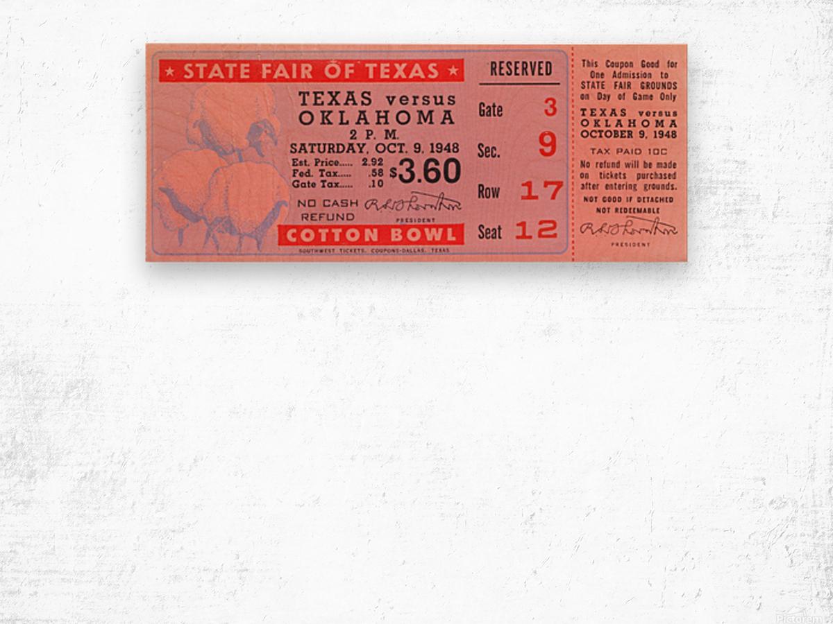 1948 Oklahoma vs. Texas Wood print