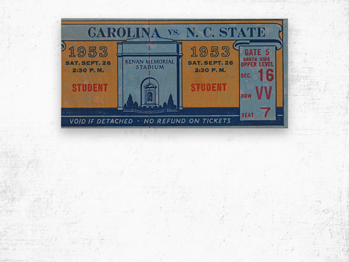 1953 North Carolina vs. NC State Wood print