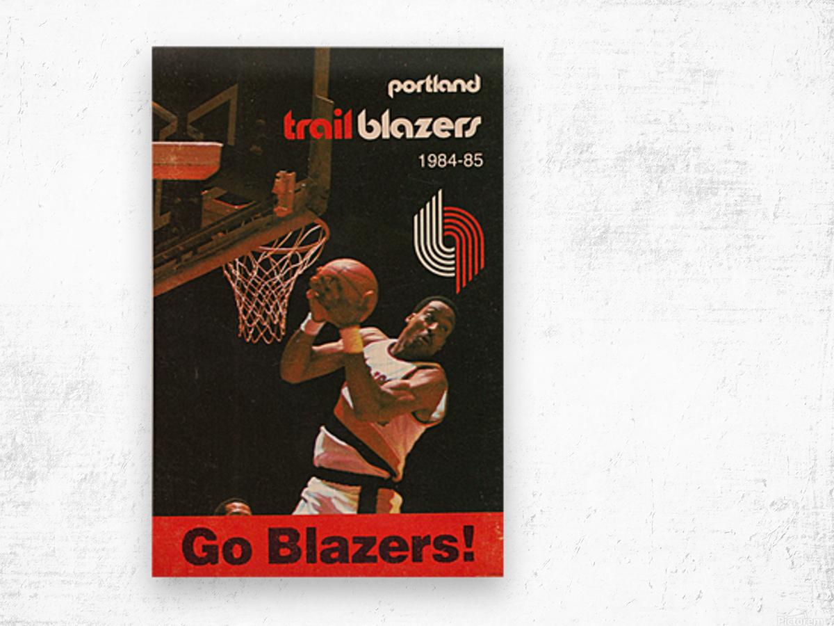 1984 Portland Trailblazers Wood print