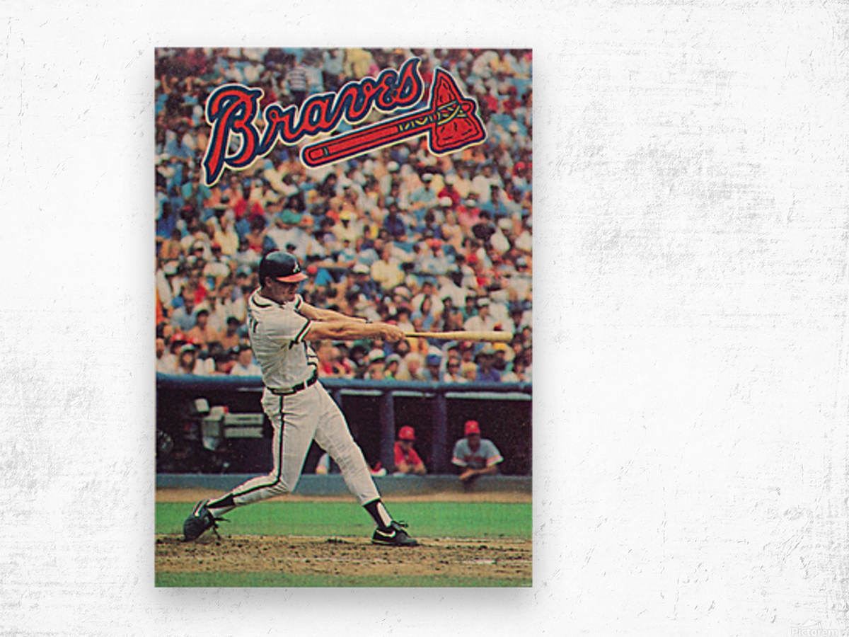 1988  Atlanta Braves Dale Murphy  Wood print