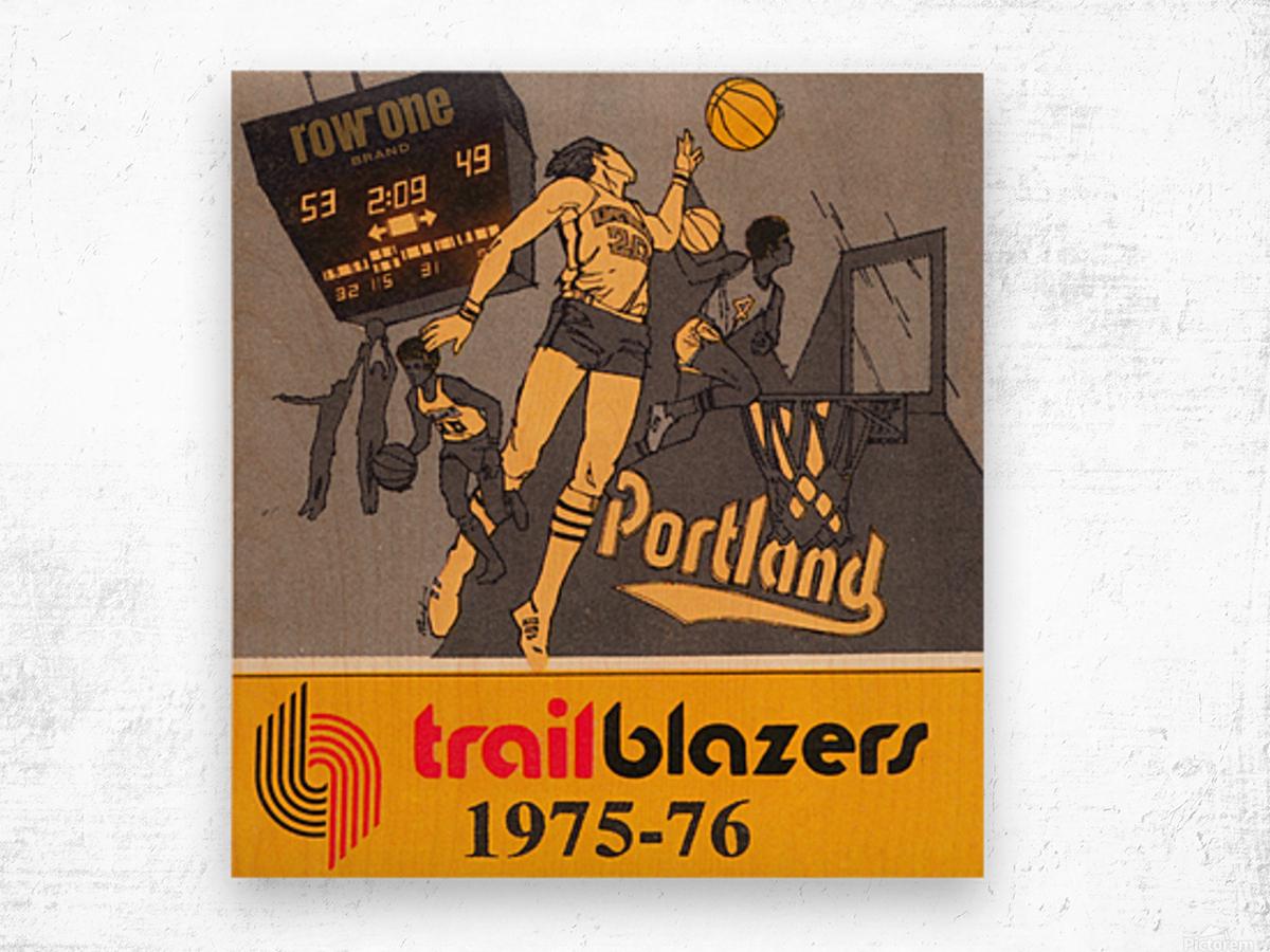 1975 Portland Trailblazers Art Wood print