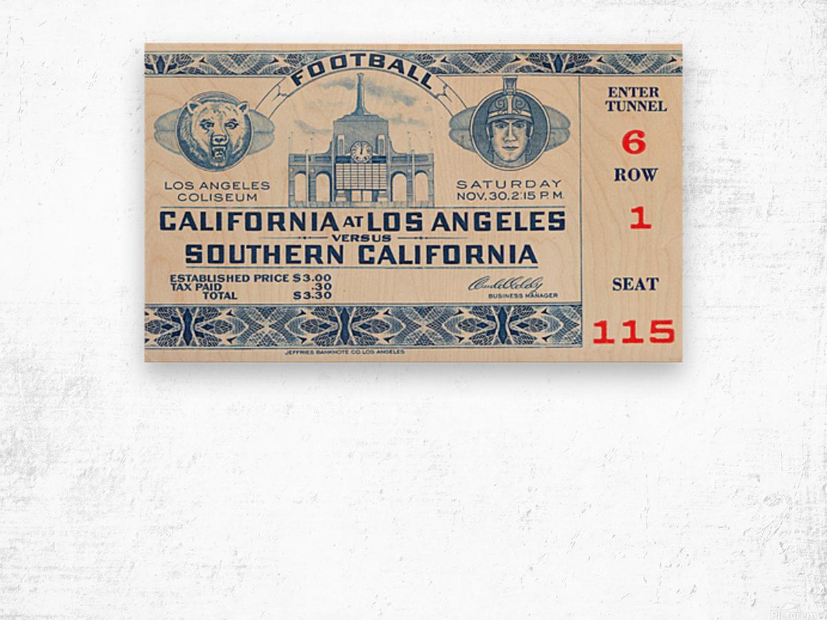 1940 USC vs. UCLA Wood print