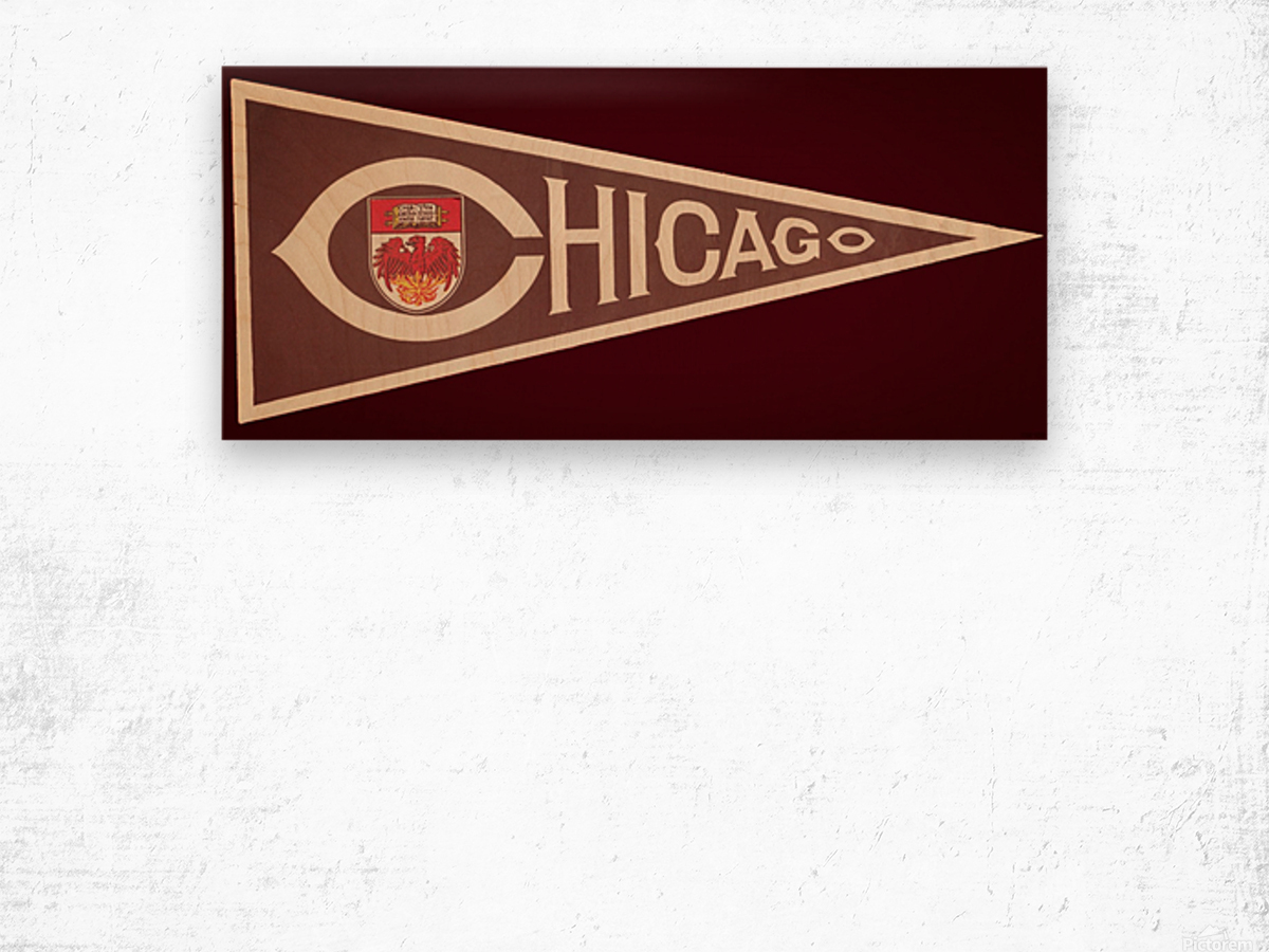 1950s University of Chicago Wood print