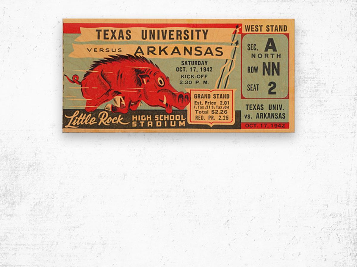 1942 Arkansas vs. Texas Wood print