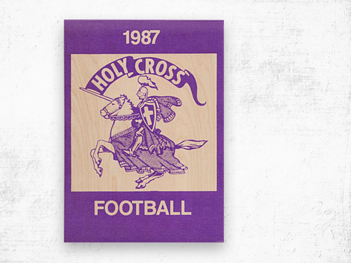 1987 Holy Cross Football Wood print