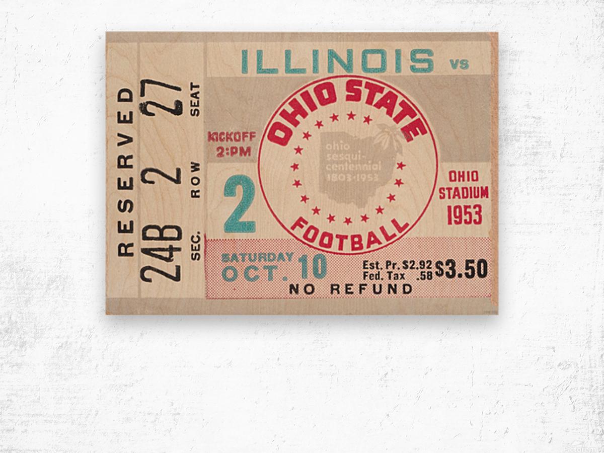 1953 Ohio State vs. Illinois Wood print