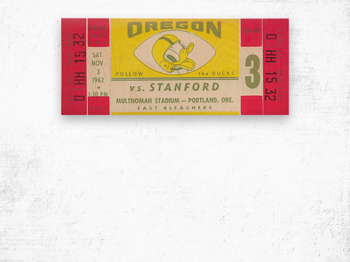 1962 Oregon vs. Stanford Wood print