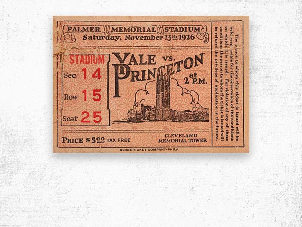 1926 Yale vs. Princeton Wood print