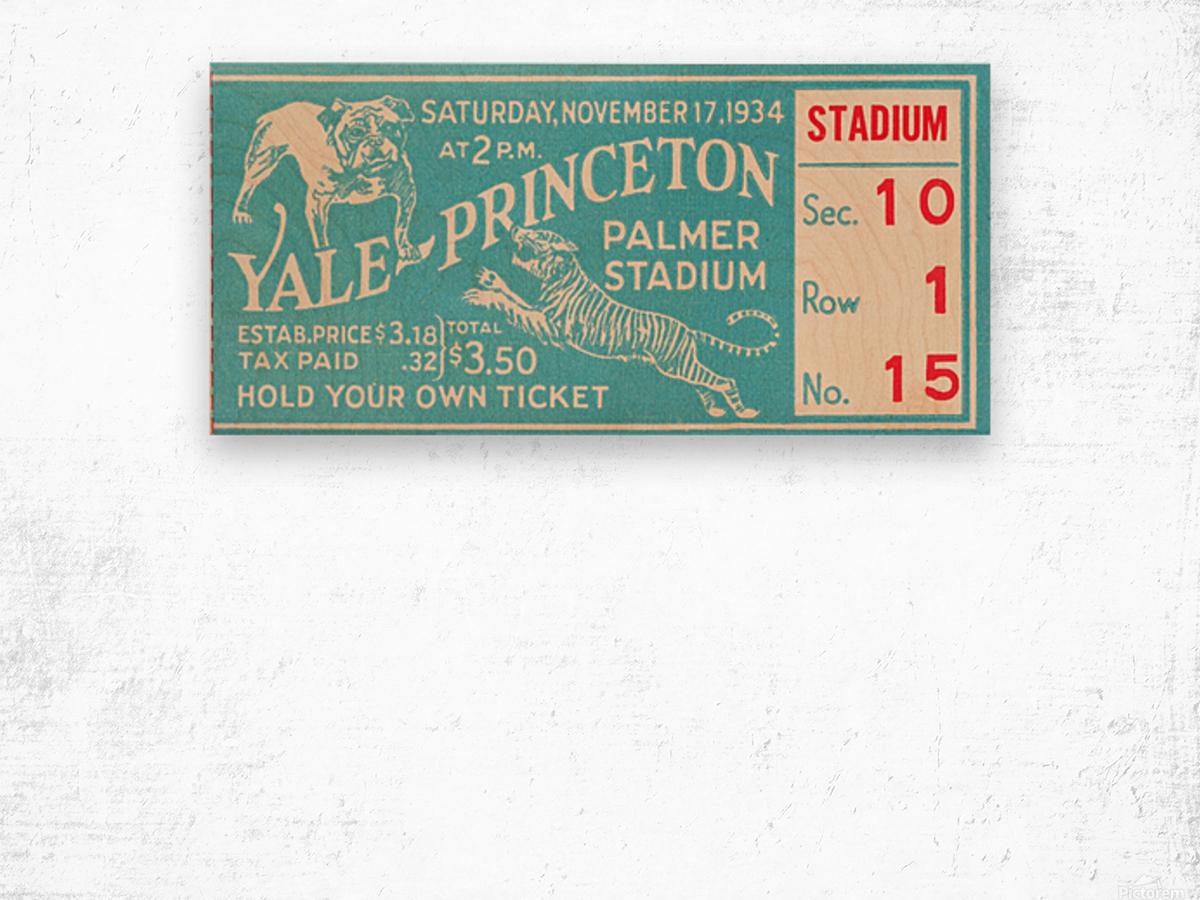 1934 Yale vs. Princeton Wood print