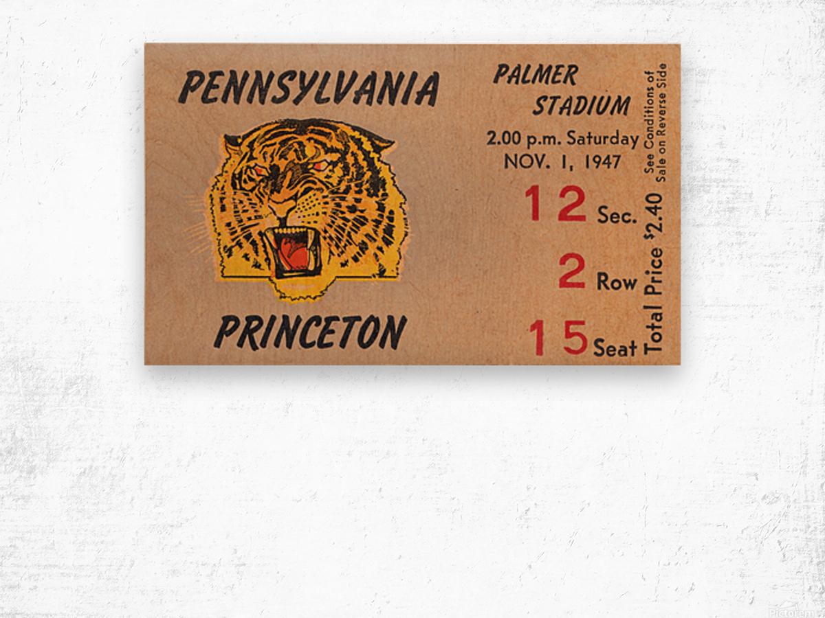 1947 Princeton vs. Penn Wood print