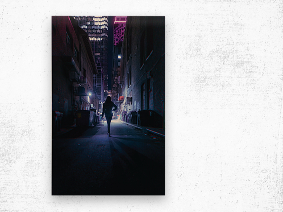 Midnight Girl Wood print