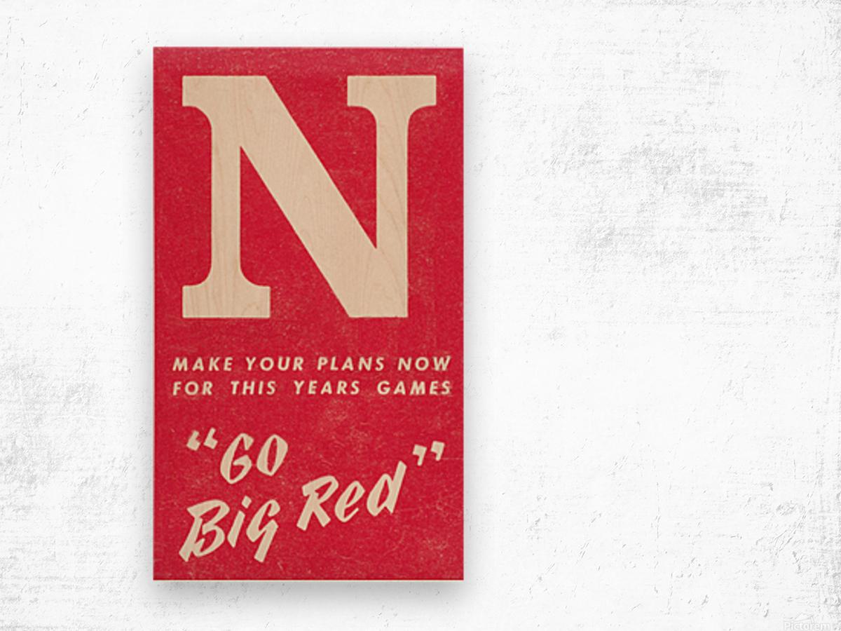 1969 Nebraska Football Art Wood print