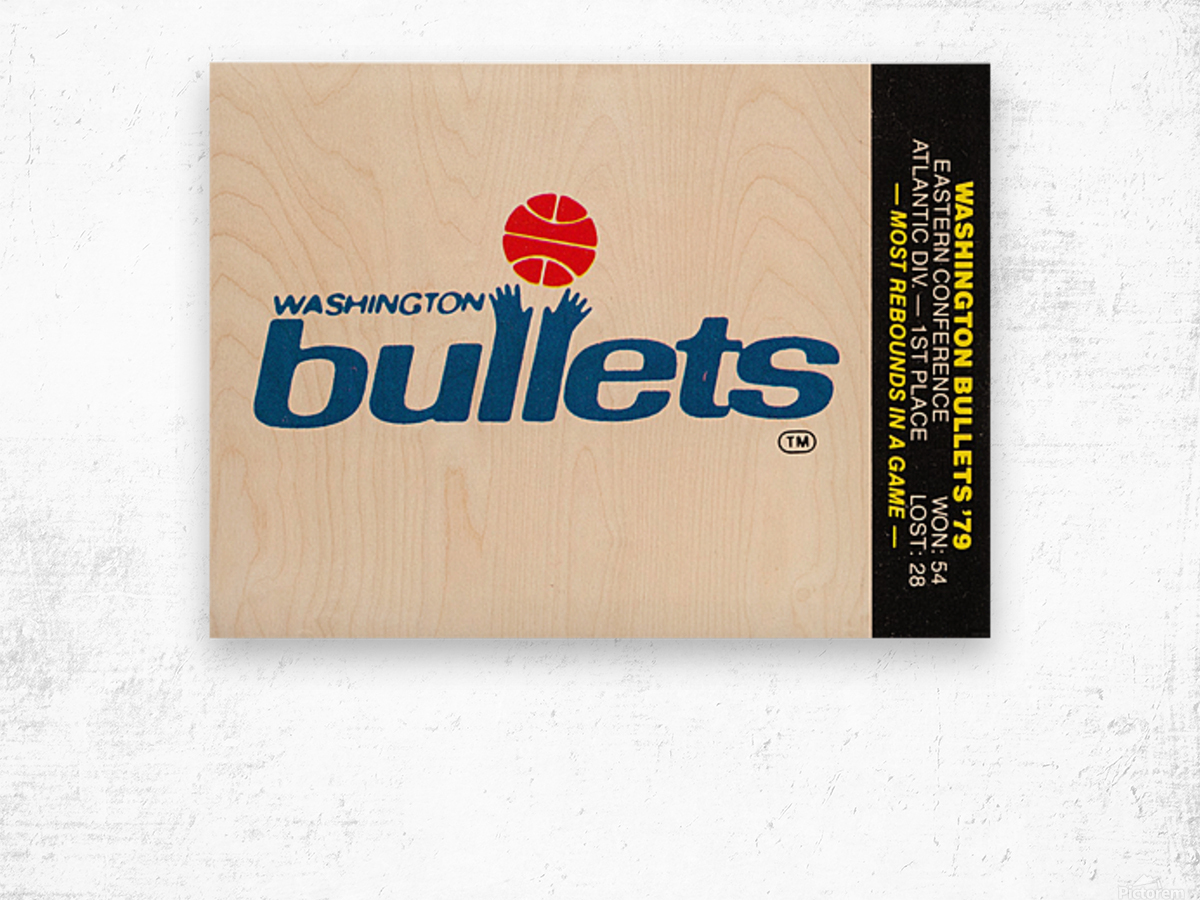 1979 Washington Bullets Fleer Decal  Wood print