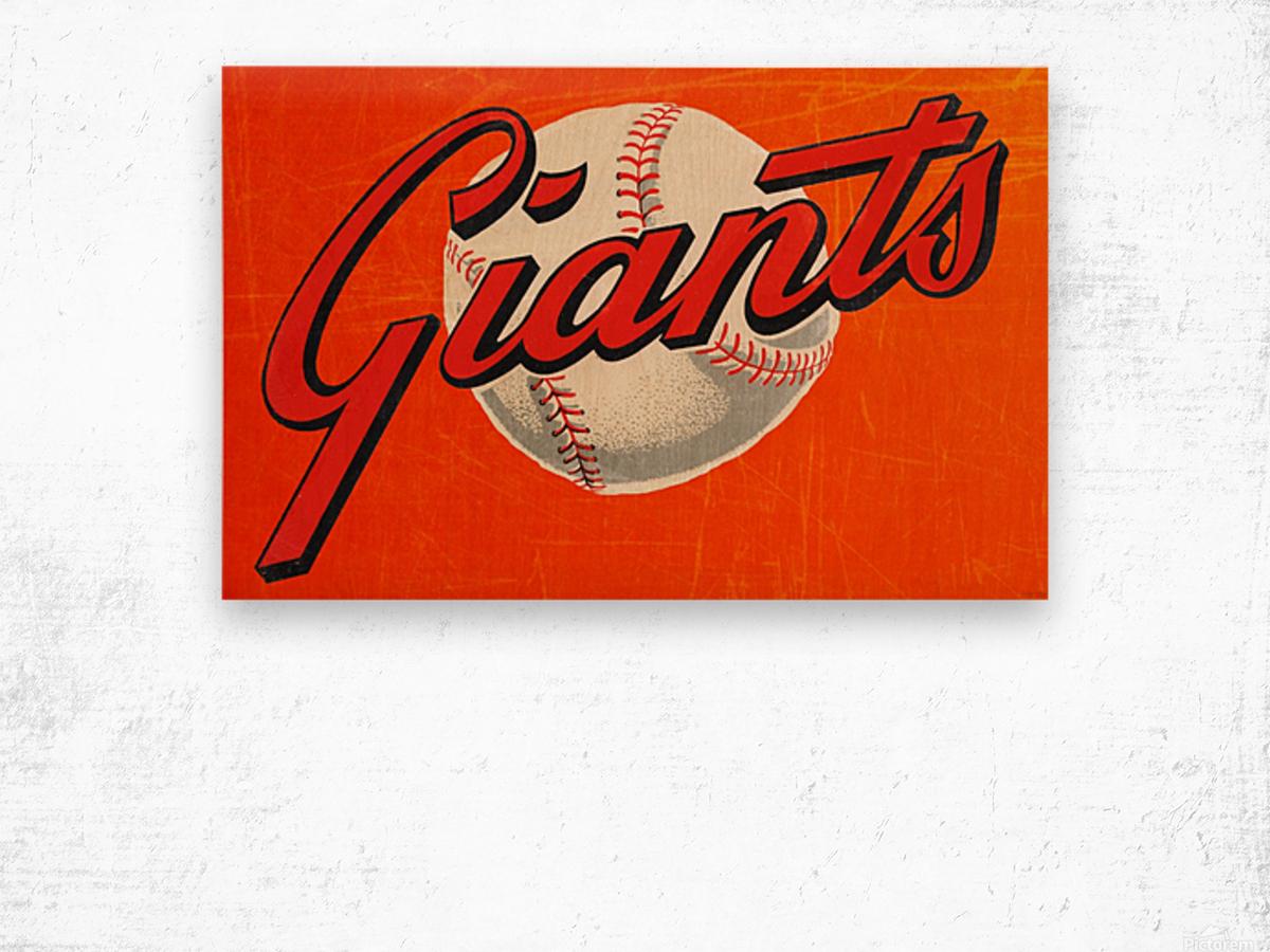 1960s San Francisco Giants Art Wood print