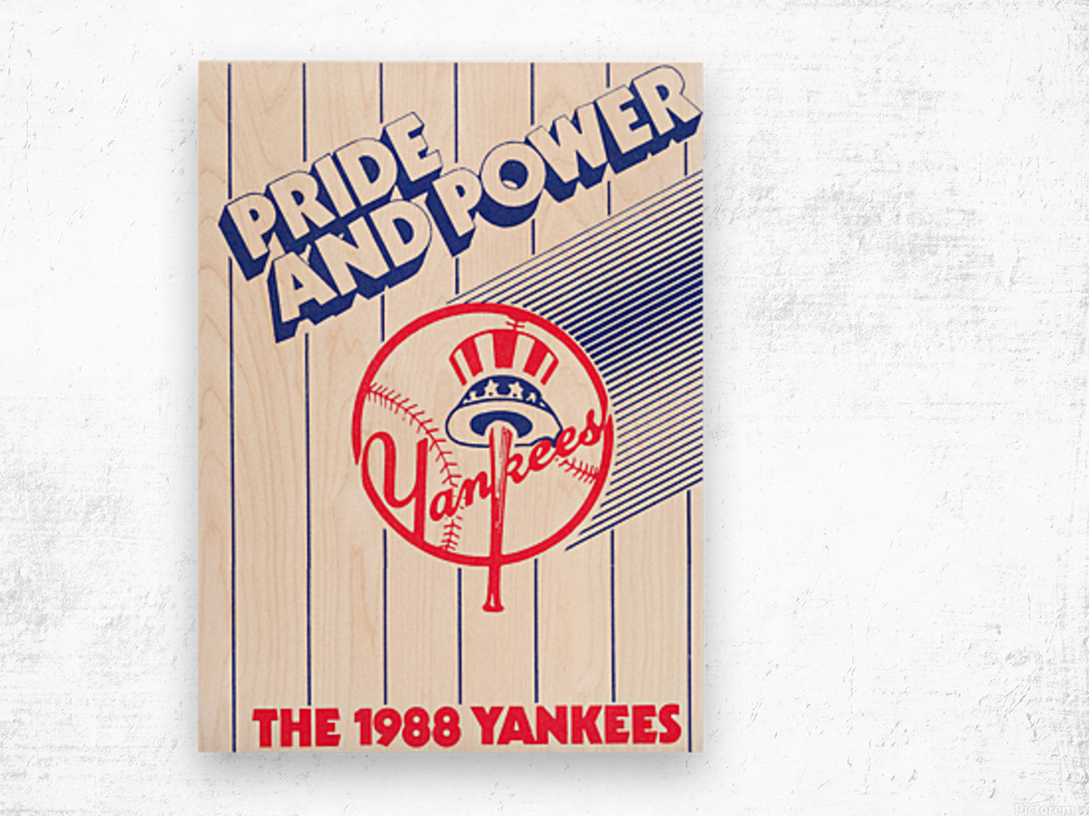 1988 New York Yankees Art Wood print