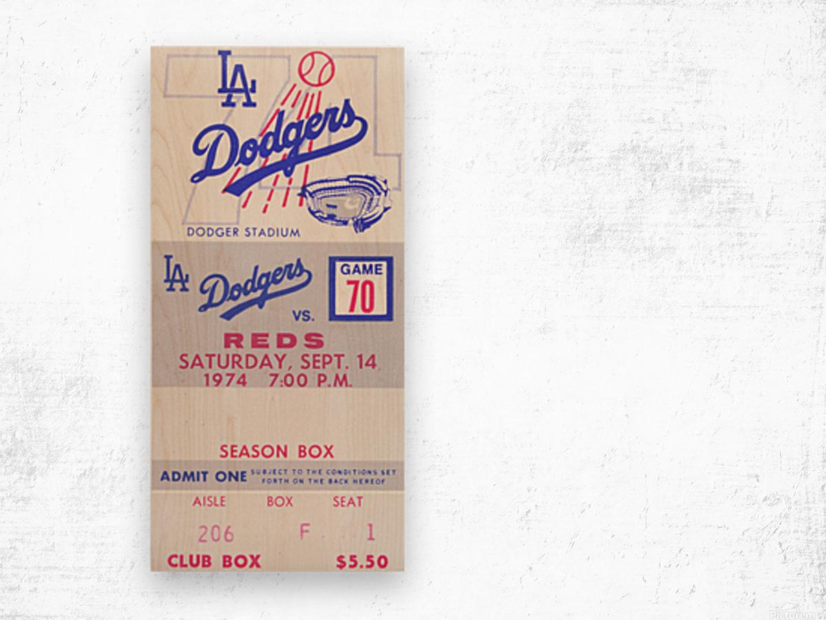 1974 LA Dodgers vs. Reds Wood print