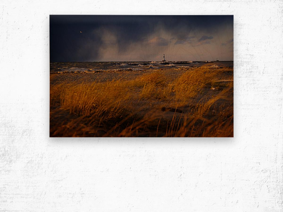 Conneaut Lighthouse Lake Erie Wood print