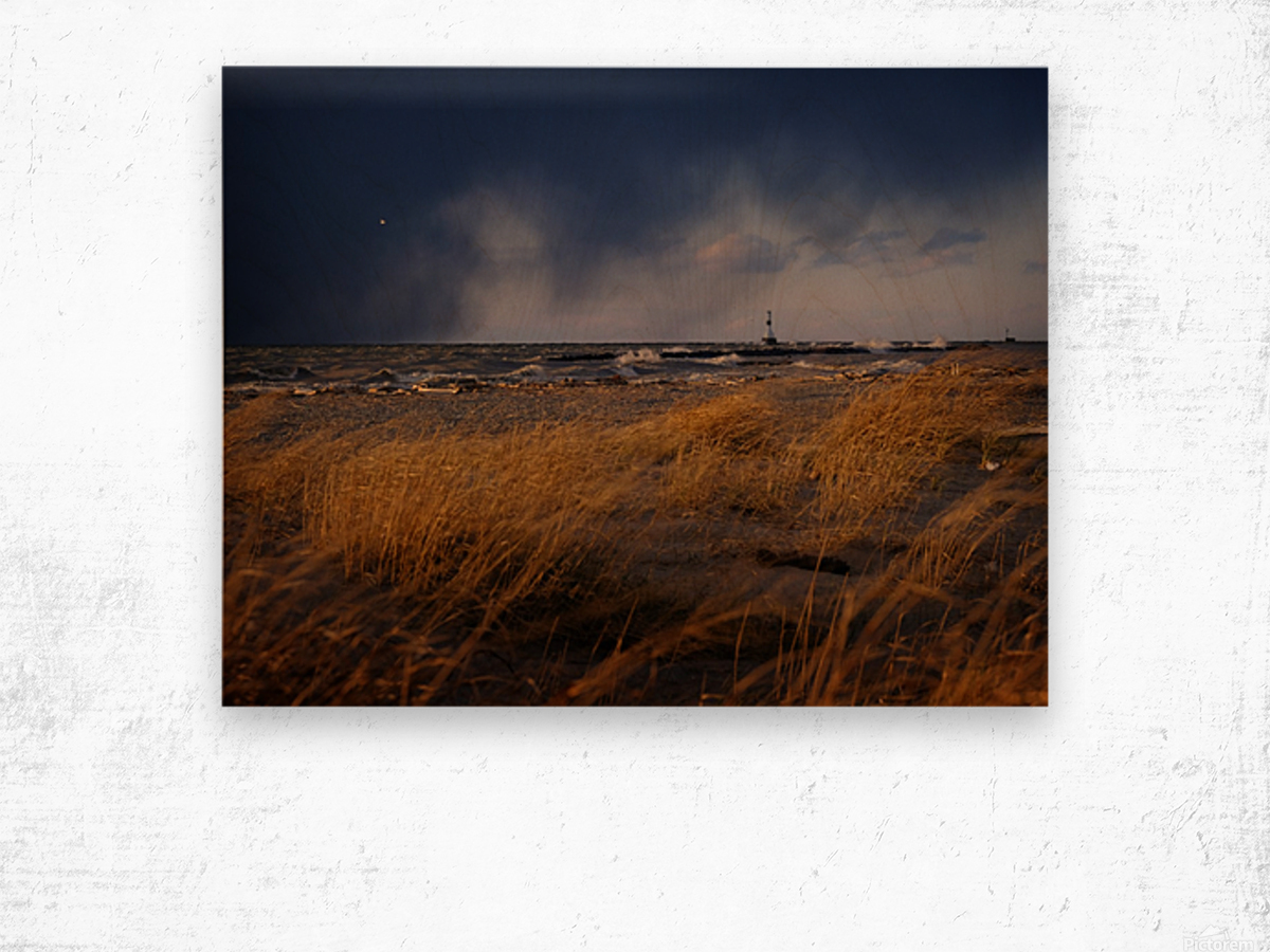 Conneaut Lighthouse Lake Erie Ohio Wood print