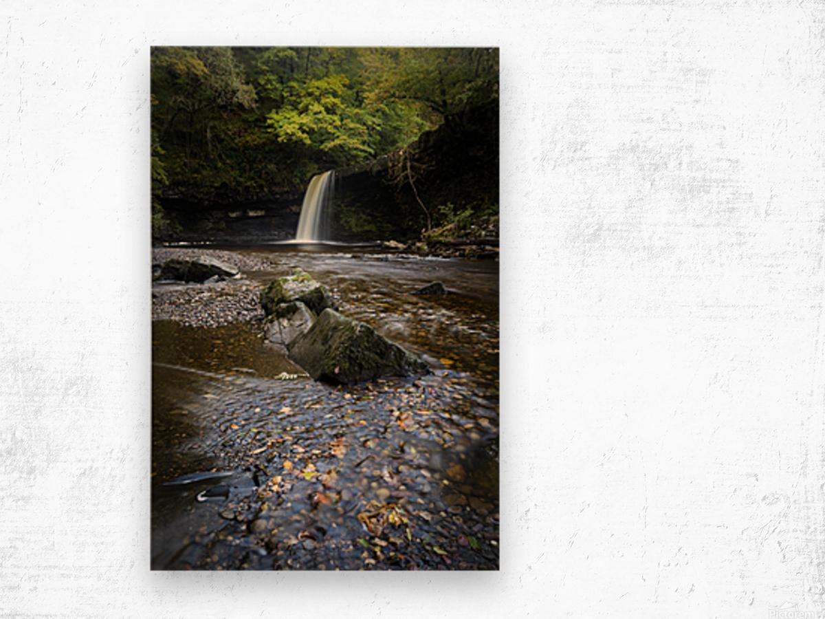 Autumn at Sgwd Gwladus Wood print