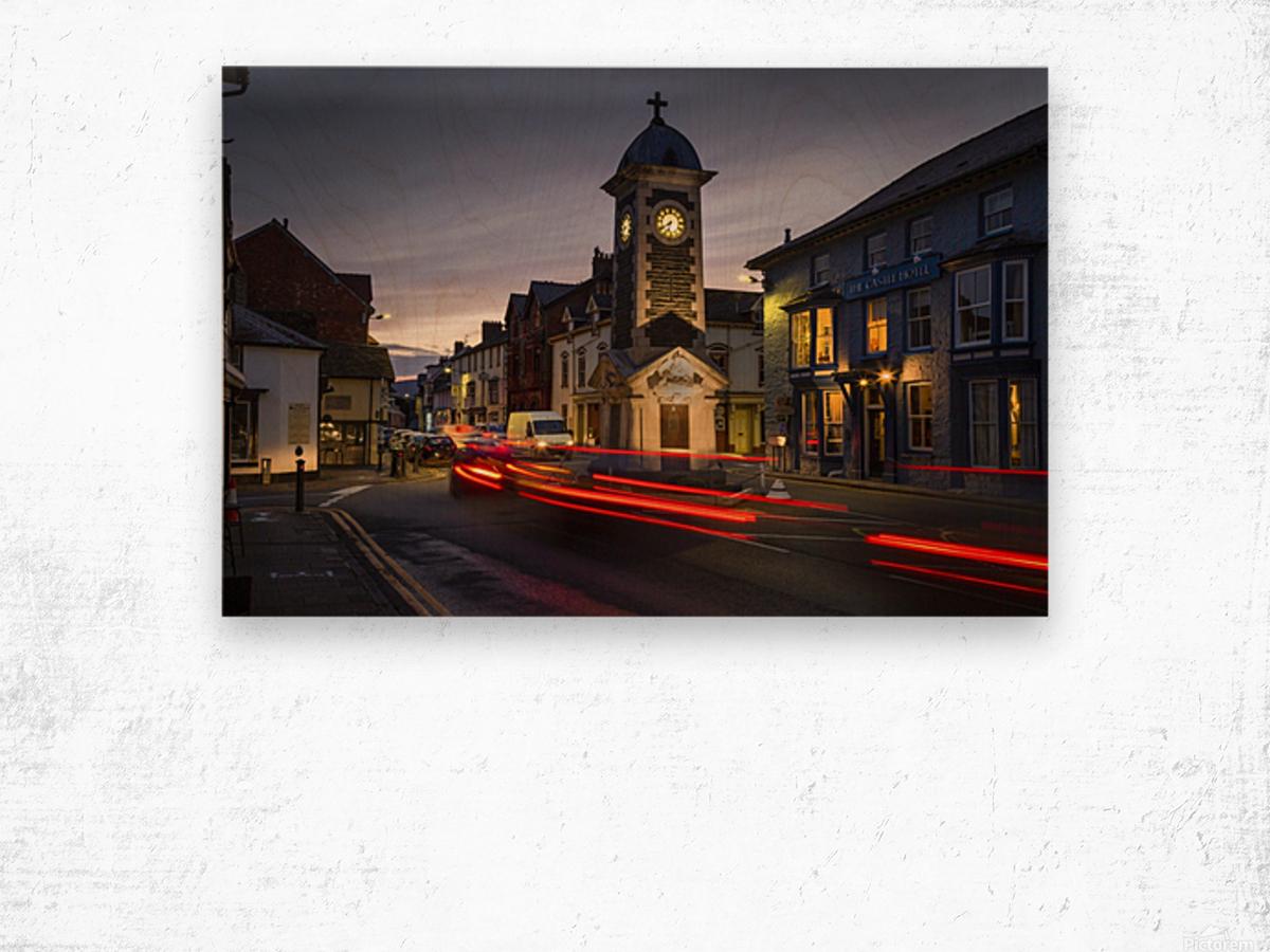 Rhayader town clock tower Wood print