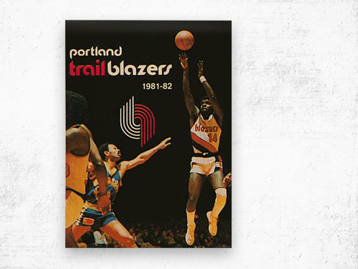 1981 Portland Trailblazers Art Wood print